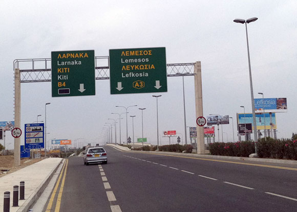 In Cyprus, you drive on the left