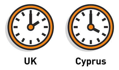 Cyprus Time Difference with UK is 2 hours